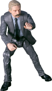 Detective Billings crouching