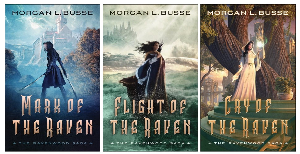 Books 1, 2, and 3 of the Ravenwood Saga by Morgan L. Busse