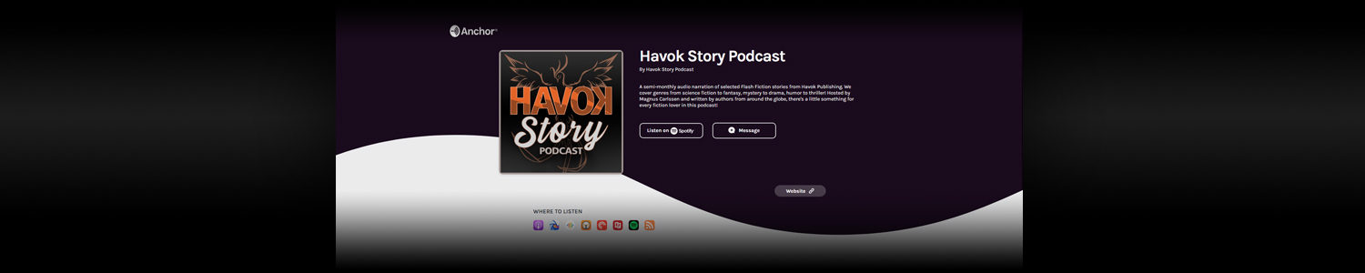 Havok Story Podcast page banner
